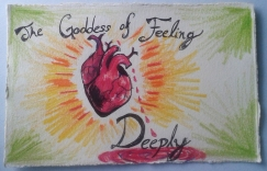The Goddess of Feeling Deeply; Ink and Colored Pencil by Amanda K Gross