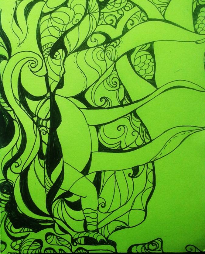 Tree Belly (detail) by Amanda K Gross