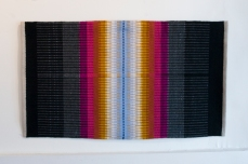 Hibernation; Hand-woven wool on linen by Amanda K Gross