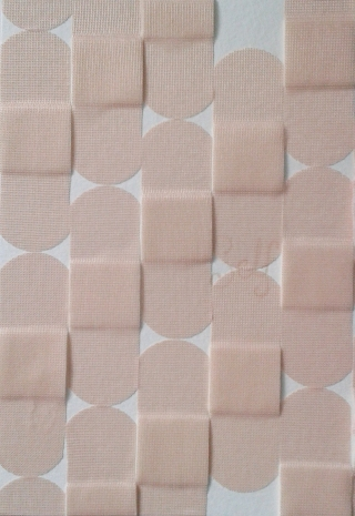 White Camo; Adhesive Bandages on Paper by Amanda K Gross