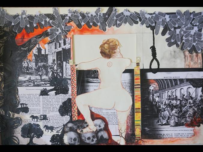 Wooden Frame; Mixed Media by Amanda K Gross