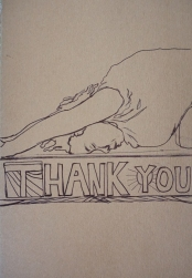 Gratitude 1; Ink on Paper by Amanda K Gross