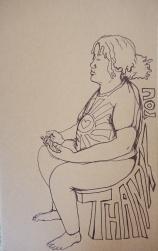 Gratitude 3; Ink on Paper by Amanda K Gross