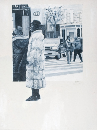 Snapshots in the City: Acrylic on Paper by Amanda K Gross