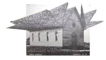 Mennonite Church; Collage by Amanda K Gross