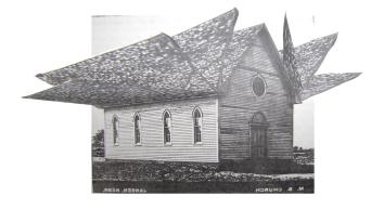 Mennonite Church; Collage by Amanda K Gross
